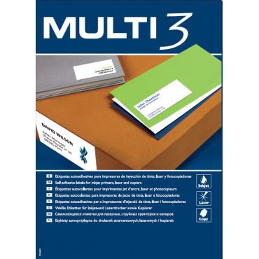 Multi3 tarra valkoinen A4, 12-os. 105x48mm
